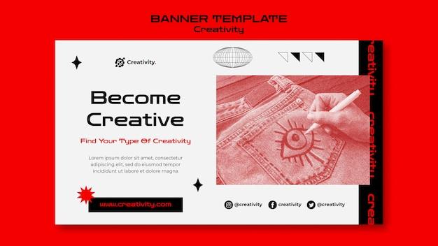 Conviértete en una plantilla de banner creativo PSD gratuito