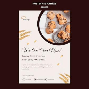 Cookies slaan poster sjabloon op