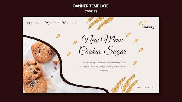 Cookies slaan sjabloon voor spandoek op