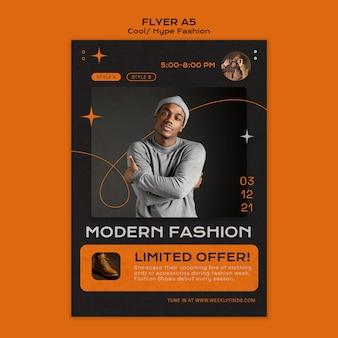 Cool fashion flyer-sjabloon