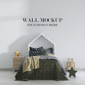 Cool kinderkamer muur mockup