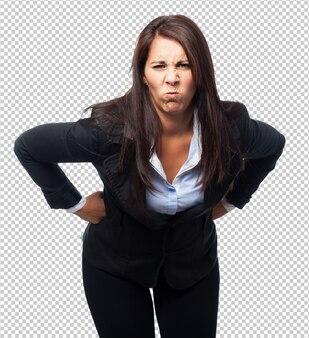 Cool mujer de negocios enojada