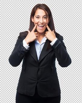 Cool mujer de negocios sonriendo