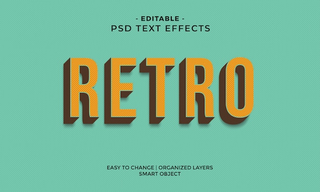 Cool retro-teksteffect