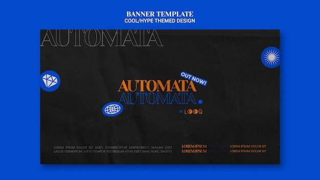 Cool thema ontwerp bannerstijl