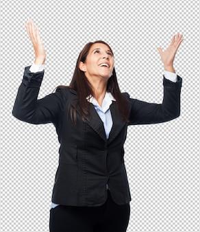 Coole zakenvrouw verrast