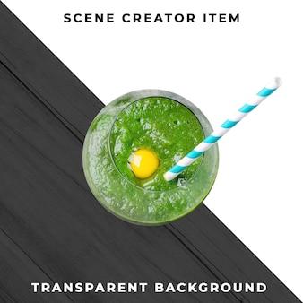 Copa de cóctel sobre fondo transparente