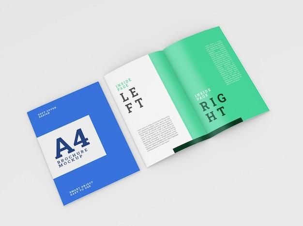 Copertina brochure a4, libretto mockup. modello psd.