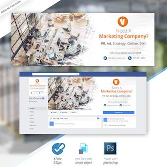 Copertina di facebook business marketing