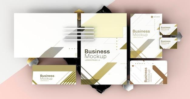 Copia espacio maqueta de papelería empresarial