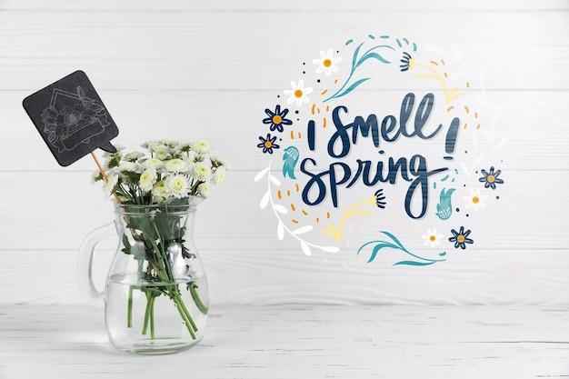 Copyspace mockup con il concetto di primavera