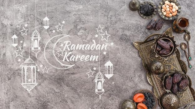 Copyspace mockup con il concetto di ramadan