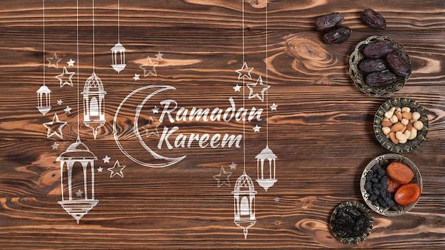 Copyspace-mockup met ramadanconcept