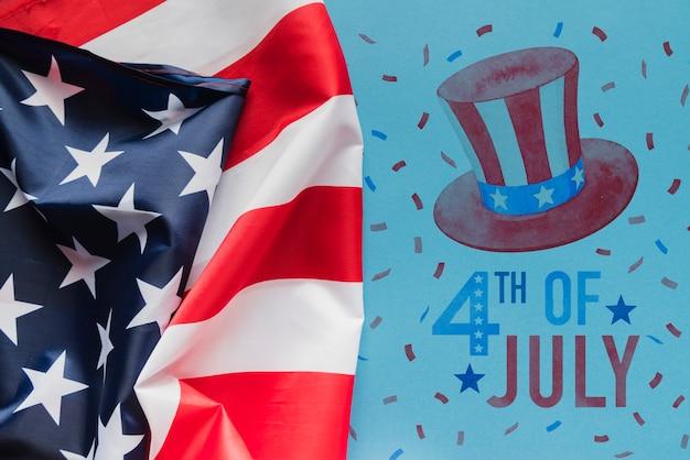 Copyspace mockup per la festa dell'indipendenza degli stati uniti