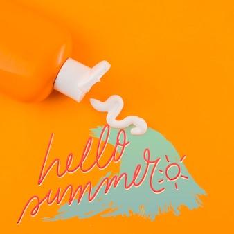 Copyspace-mockup voor zomerconcepten