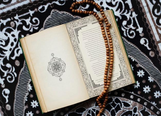 El corán, el texto religioso central del islam.