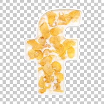 Cornflakesgraangewas met melk in brievenf kom