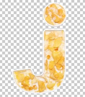 Cornflakesgraangewas met melk in brievenj kom