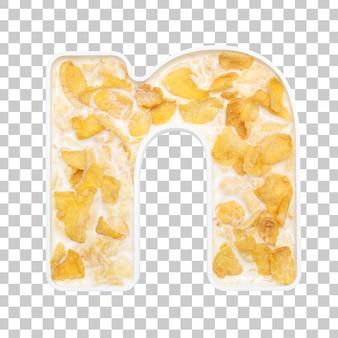 Cornflakesgraangewas met melk in brievenn kom