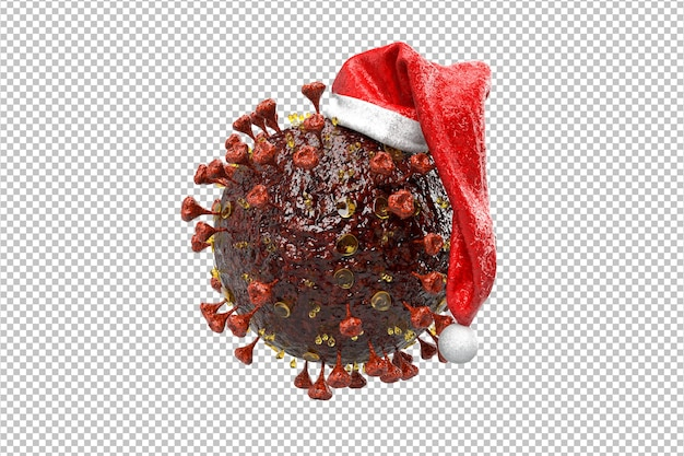 Corona virus kerst concept. kerst pandemie concept. 3d-rendering