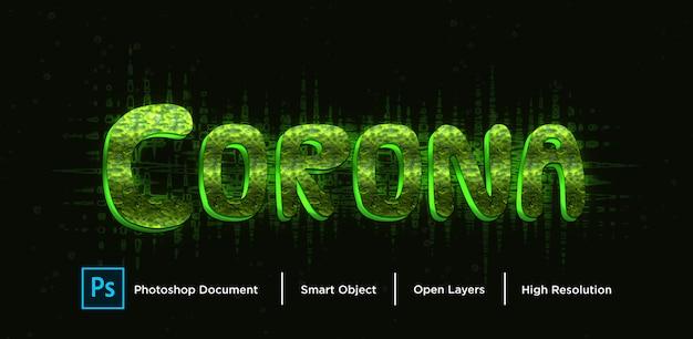 Corona virus teksteffectontwerp
