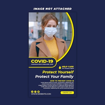 Corona-virus verhaalsjabloon