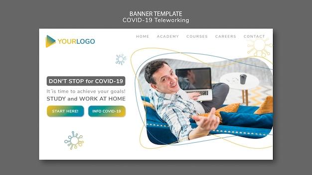 Coronavirus-bannermalplaatje met afbeelding