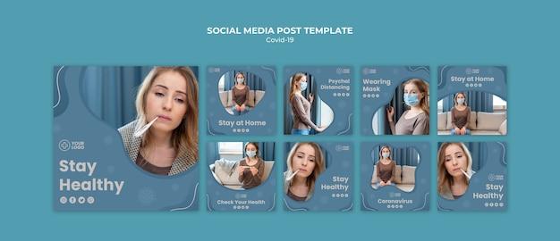 Coronavirus concept post sui social media