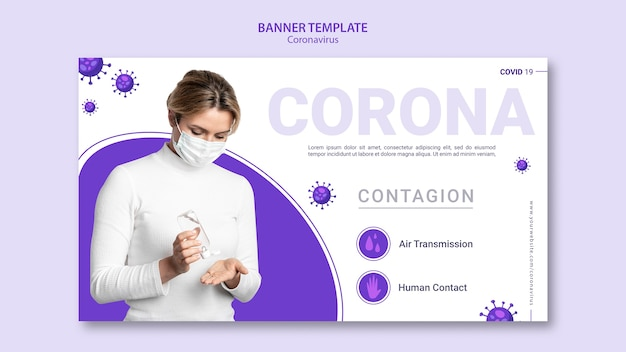 Coronavirus design template banner