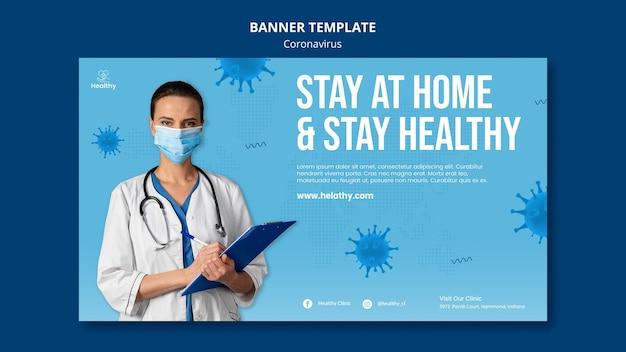 Coronavirus horizontale banner