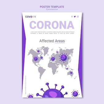Coronavirus poster sjabloon