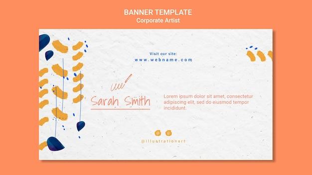 Corporate artiest concept sjabloon voor spandoek