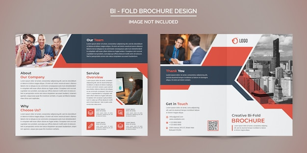 Corporate business bi fold brochure sjabloon