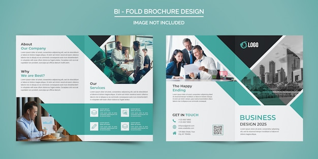Corporate business bi fold brochure sjabloon