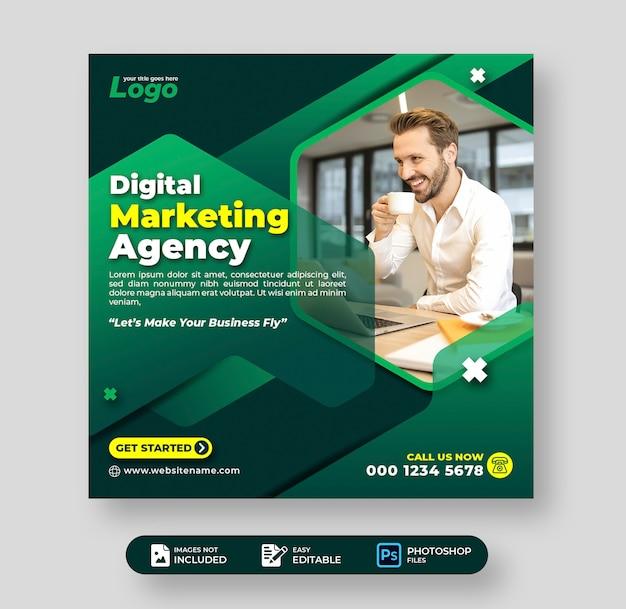 Corporate business digital marketing agency social media post