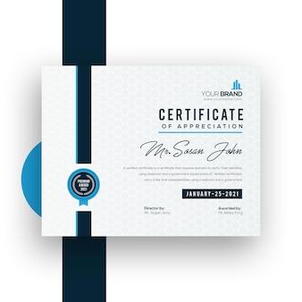 Corporate certificaat sjabloonontwerp