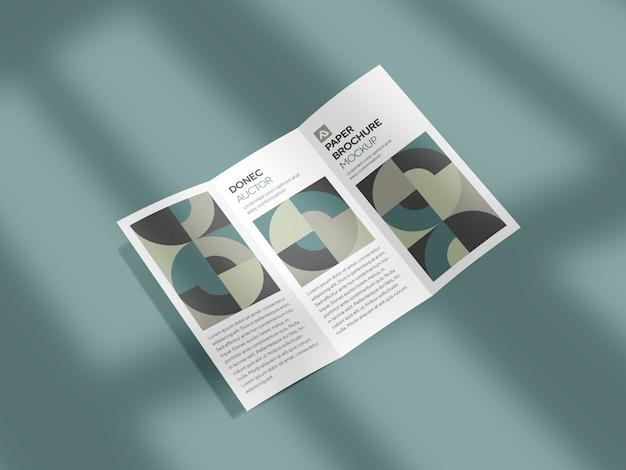 Corporate driebladige brochure mockup psd