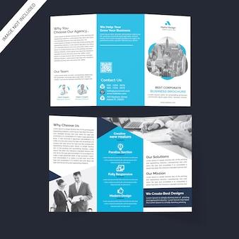 Corporate drievoudige brochure