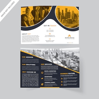 Corporate drievoudige brochure