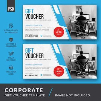Corporate gift voucher sjabloon
