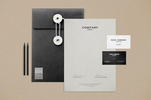 Corporate identity mockup psd set voor zakelijke onderneming