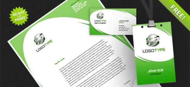 Corporate identity psd confezione