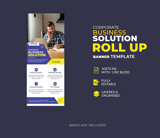 Corporate roll-up banner ontwerpsjabloon