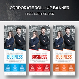 Corporate roll-up xbannersjabloon
