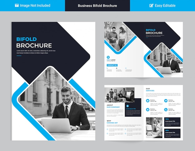 Corporate tweevoudig brochureontwerp