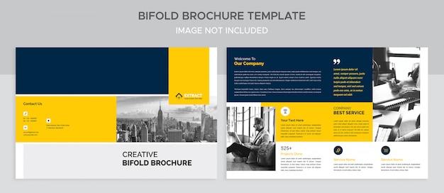 Corporate tweevoudige brochure sjabloon