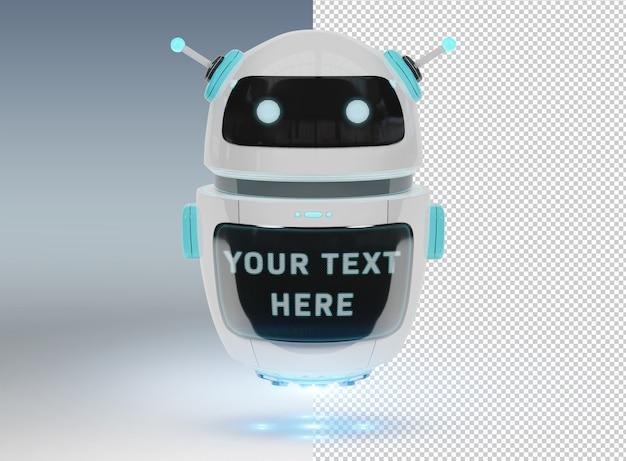 Cortar chatbot en gey mockup