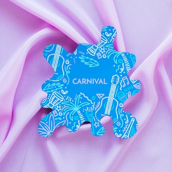Corte de carnaval brasileño sobre tela