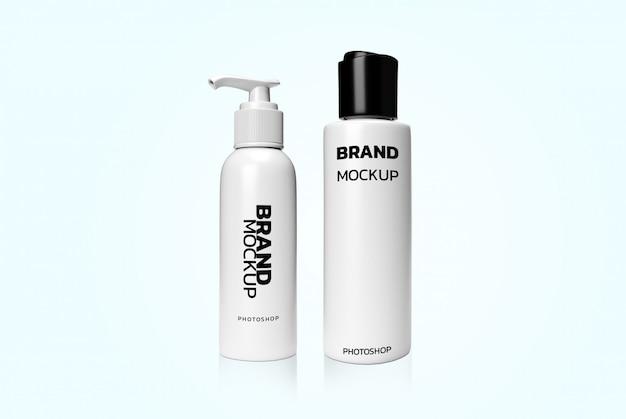 Cosmetica 3d-weergave realistisch mockup