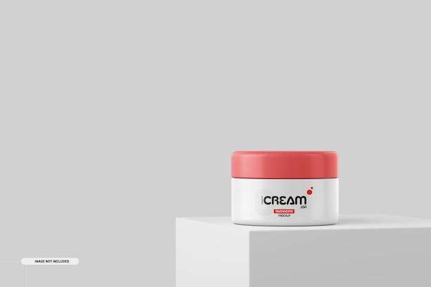 Cosmetica crème pot fles mockup